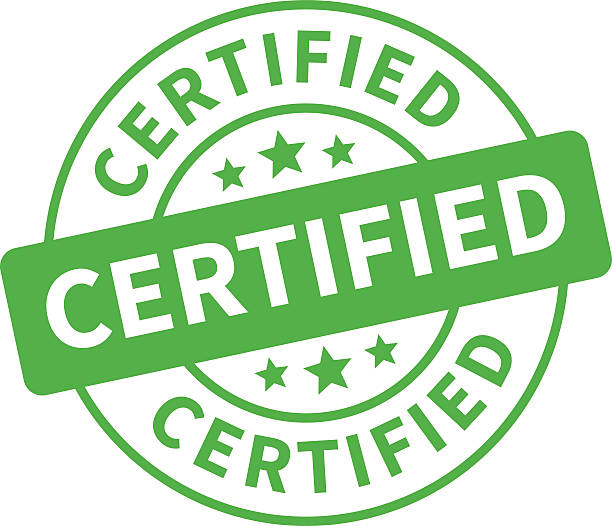 illustrazioni stock, clip art, cartoni animati e icone di tendenza di timbro certificata, etichetta, adesivo o bastone piatto icona - sigillo timbro