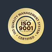 istock ISO 9001 certified stamp, quality management system 1320671748