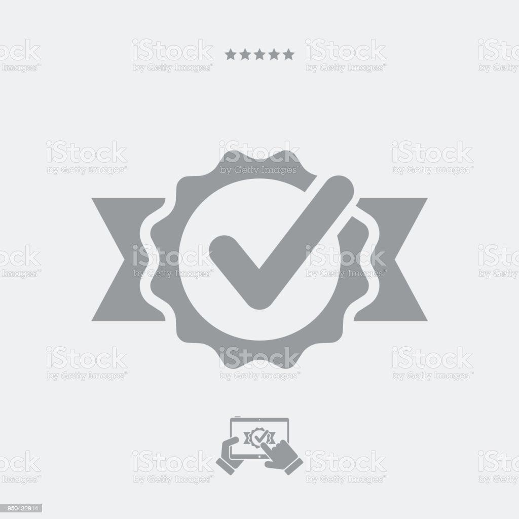 Certified symbol vector art illustration