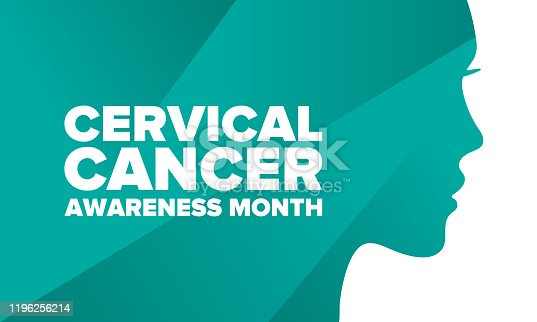 istock Cervical Cancer Awareness Month. Celebrate annual in January. Woman healthcare. Girl solidarity. Cancer prevention. Female disease. Medical healthcare concept. Poster, banner and background. Vector 1196256214