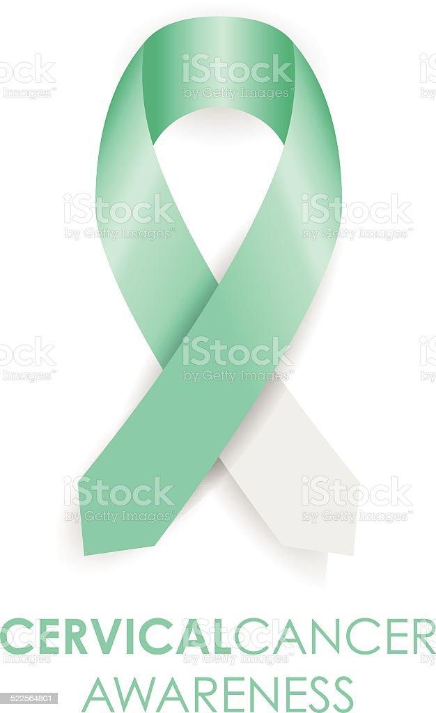 Cervical cancer ribbon vector art illustration