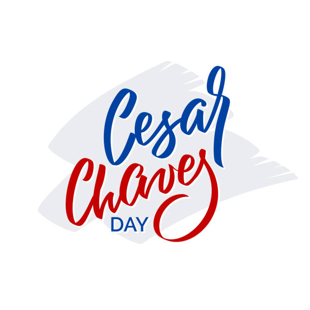 ilustrações de stock, clip art, desenhos animados e ícones de cesar chaves day - vector typography, calligraphy, lettering, hand-writing. isolated on white in two color. for banner, label, tag, poster, wallpaper, flyer, invitation, cutout template. - vila real