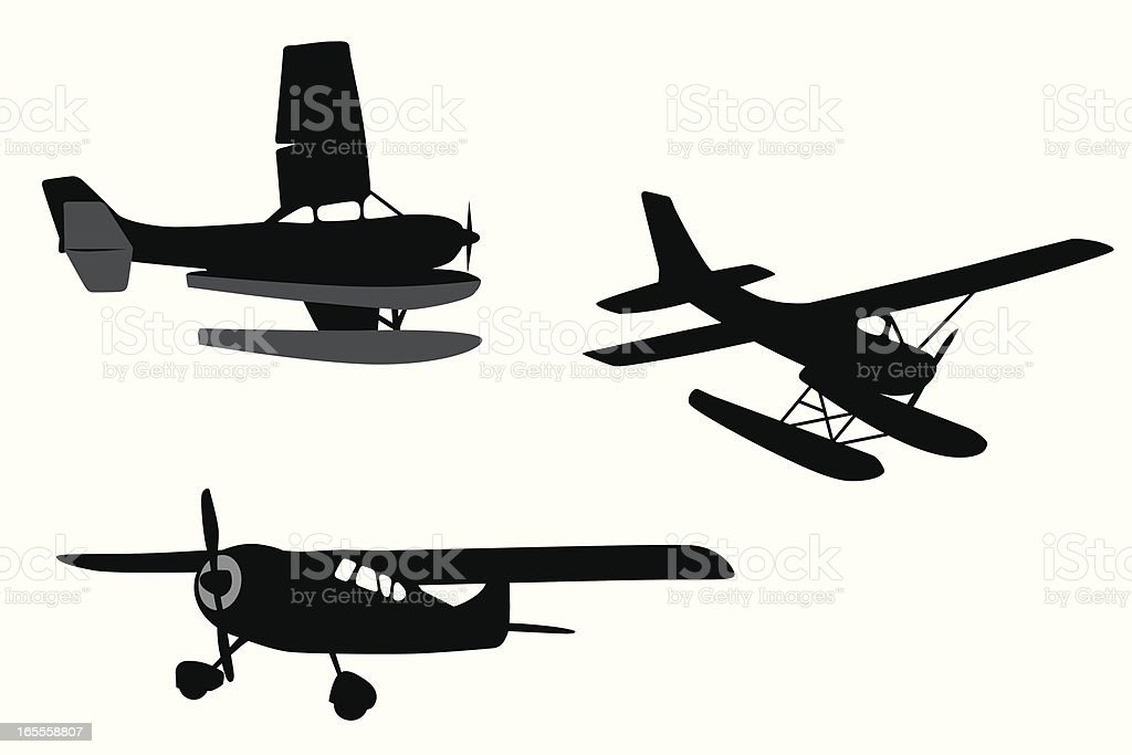 Cessna Vector Silhouette Stock Vector Art More Images Of Air