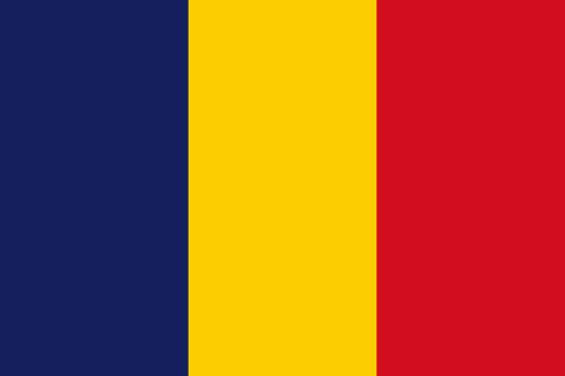 Chad African Country Flag