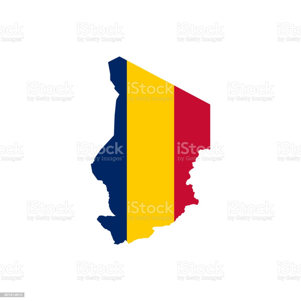Chad Flag And Map Stock Vector Art More Images Of Cartography