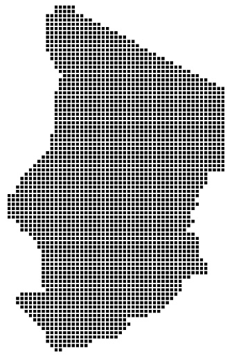 Chad map square dotted style