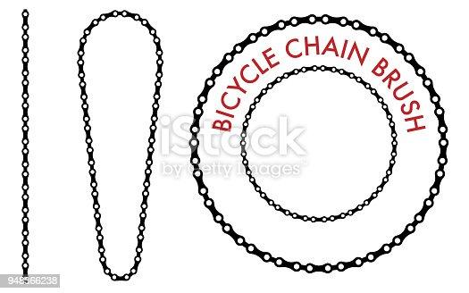 Chain Brush Set on the White Background