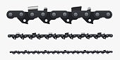 Chain for saw, mechanical pattern, bin set