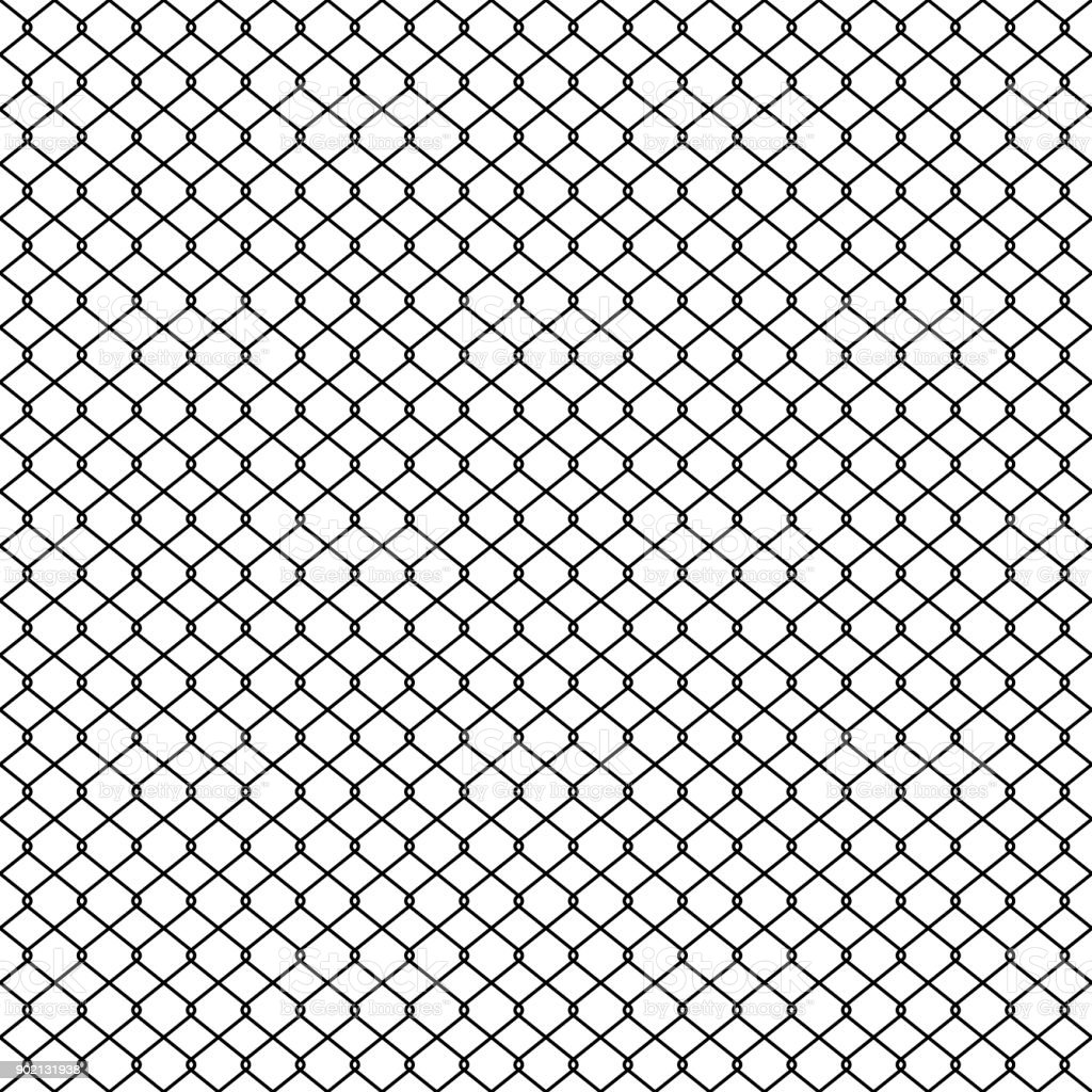 Chain Link Fence Braid Wire Fence Texture Seamless Pattern Vector ...