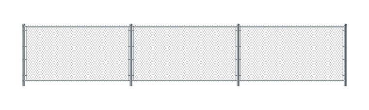 Chain link fence. Metal Wire Fence.