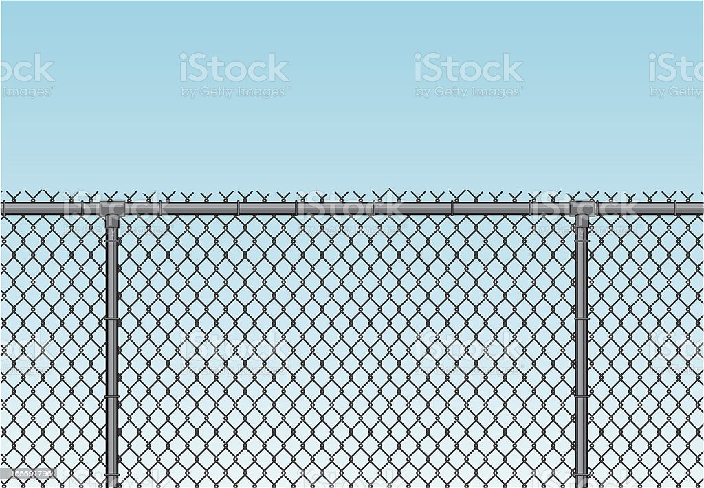 chain link fence royalty-free stock vector art