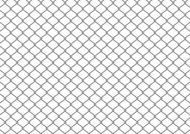 stockillustraties, clipart, cartoons en iconen met chain link fence - fence