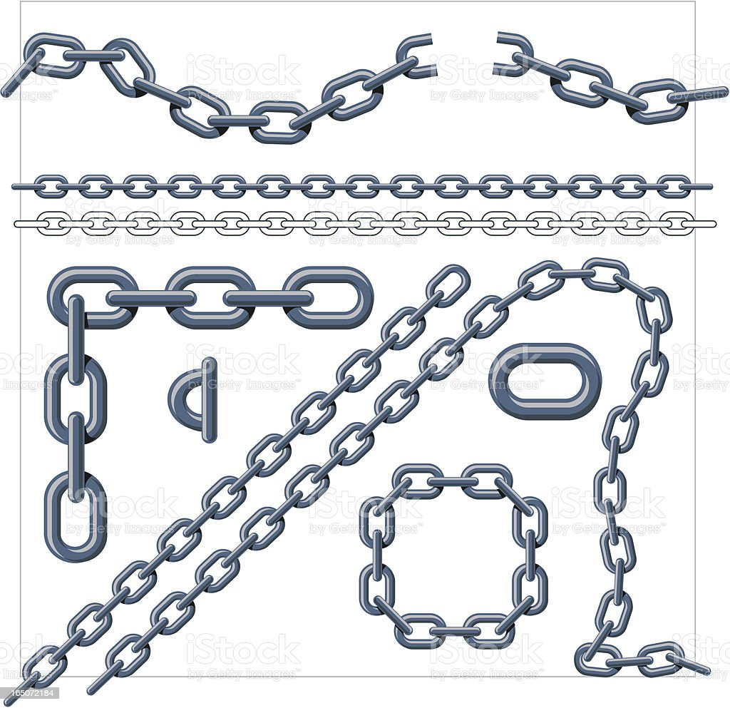 Chain Link Grey Stock Illustration - Download Image Now ...  Chain Vector