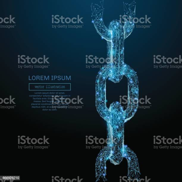 Chain links low poly blue vector id666926210?b=1&k=6&m=666926210&s=612x612&h=mqzigci a4uguq ptdcotcr0q6wn5afeccgnrkv4dx0=