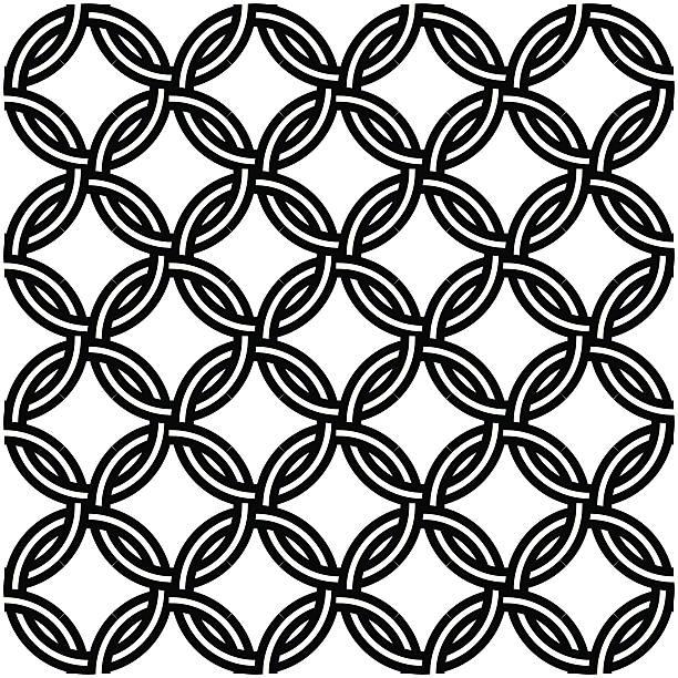 Chain Mail, Seamless design, Tattoo vector art illustration