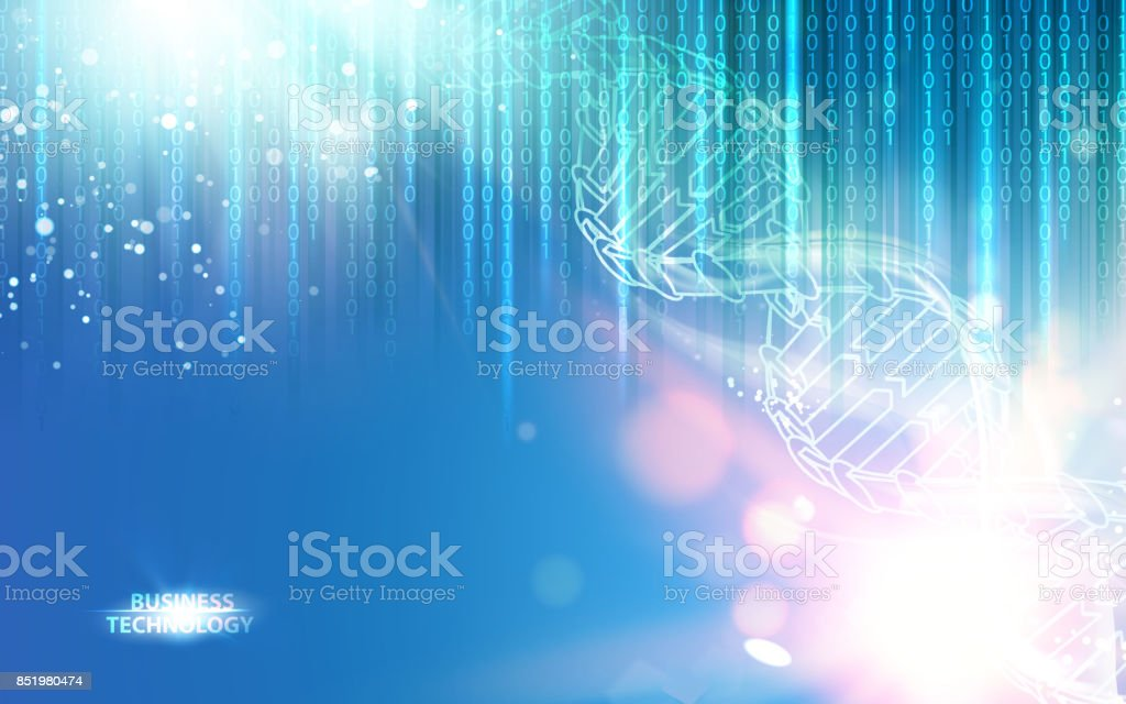 DNA chain over abstract vector art illustration
