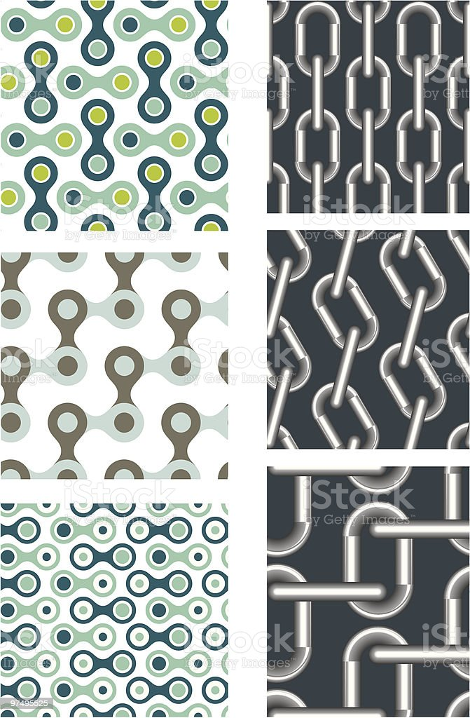 Chain patterns (seamless) royalty-free chain patterns stock vector art & more images of abstract