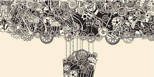 Chain Reaction. vector art illustration