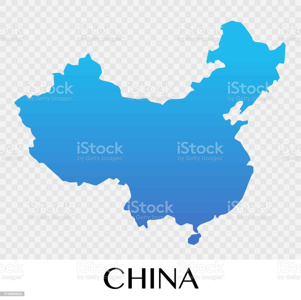 chaina map in asia continent illustration design royalty free chaina map in asia continent illustration