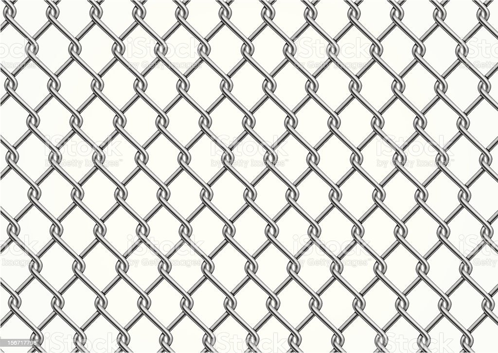 chain link fence clip art, vector images & illustrations - istock