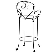 Chair flat illustration on white