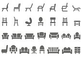 Chair icon set