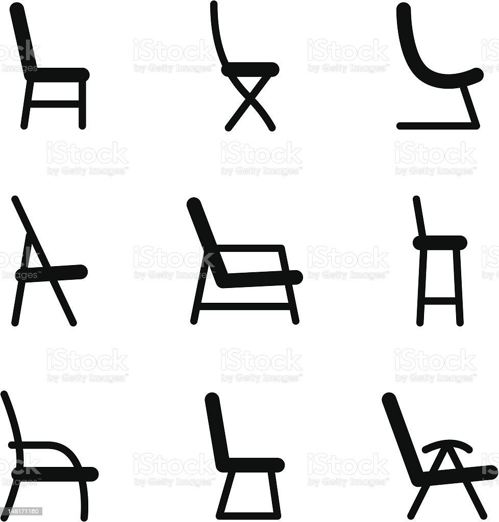 Chair icons royalty-free stock vector art