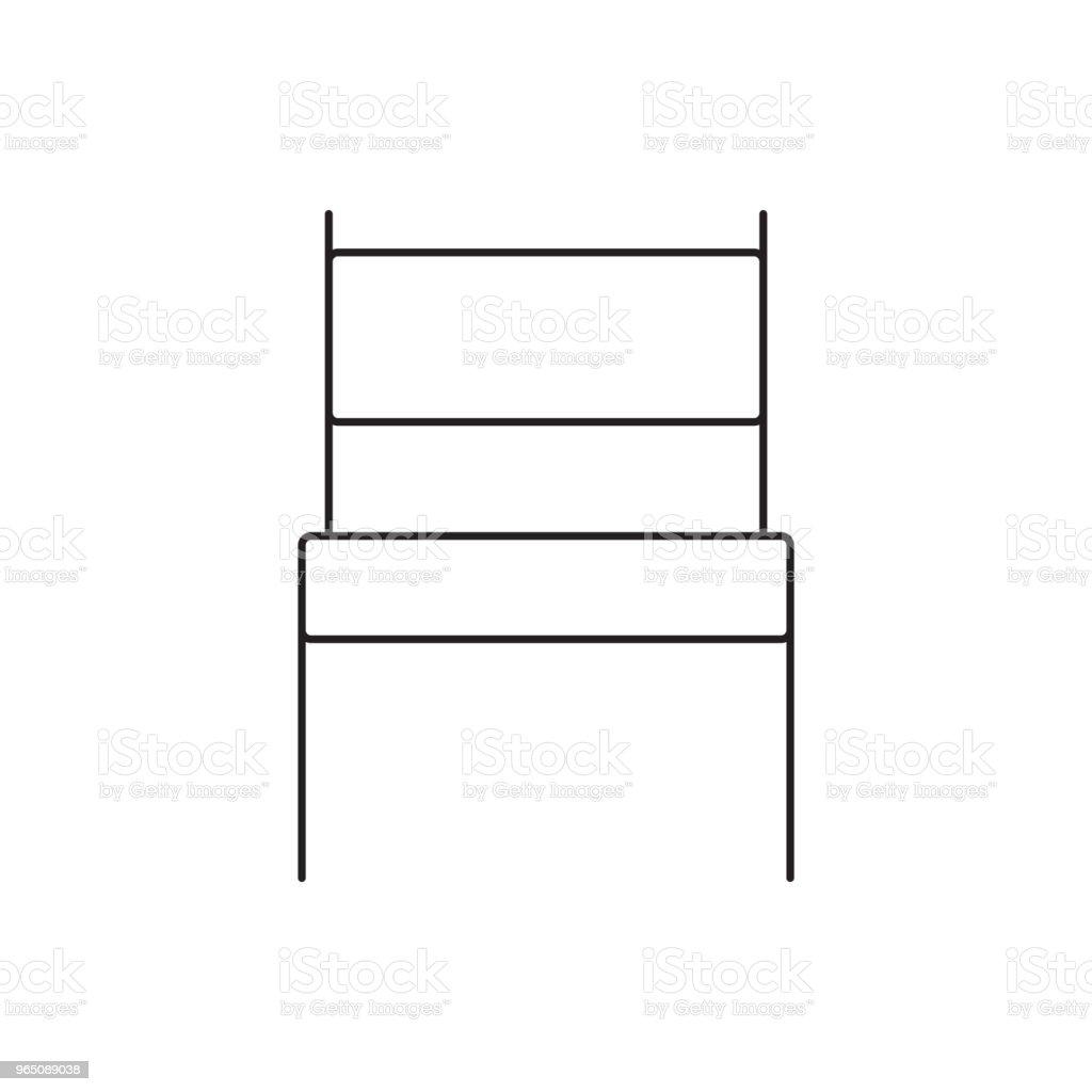 chair line icon chair line icon - stockowe grafiki wektorowe i więcej obrazów azerbejdżan royalty-free