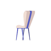 istock Chair or armchair for office or home flat cartoon vector illustration isolated 1280019957