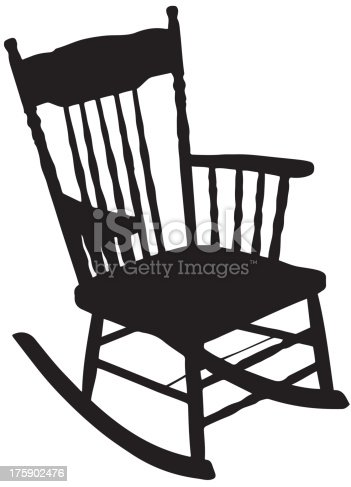 Chair Silhouette Stock Vector Art & More Images of Back ...