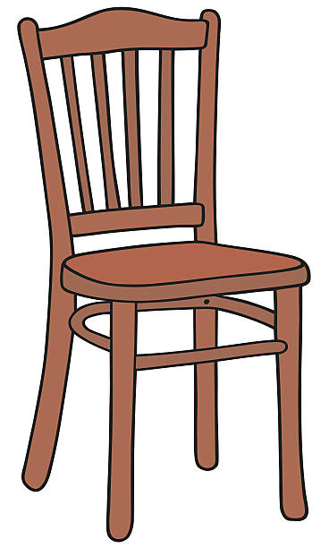 Wooden chair clip art vector images illustrations istock for Wood chair images