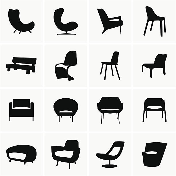 stockillustraties, clipart, cartoons en iconen met chair - stoel