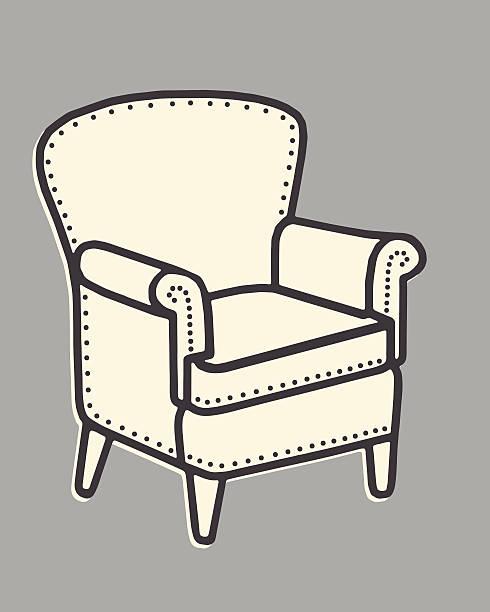 stuhl - stuhllehnen stock-grafiken, -clipart, -cartoons und -symbole