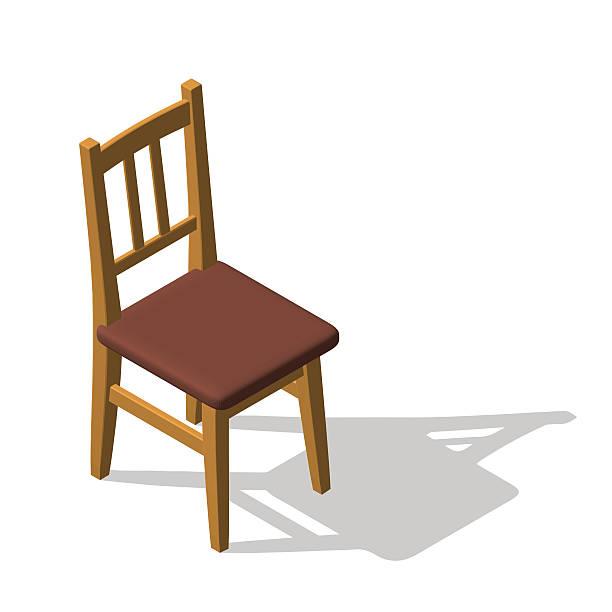 chair.isolated on white. 3d vector illustration.isometric style. - stuhllehnen stock-grafiken, -clipart, -cartoons und -symbole