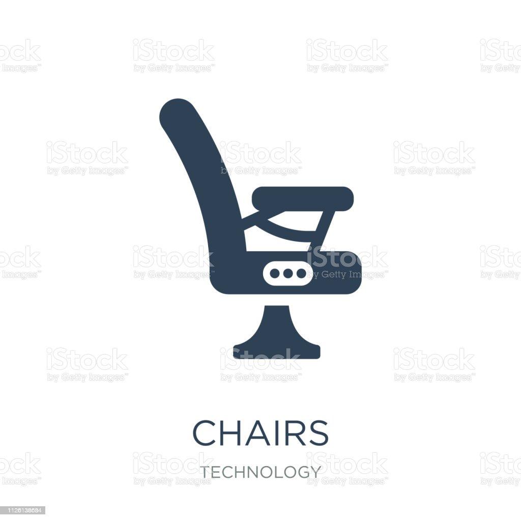 Stühle Hintergrund Stühlesymbol Auf Trendige Weißem Vektor k8n0wPO