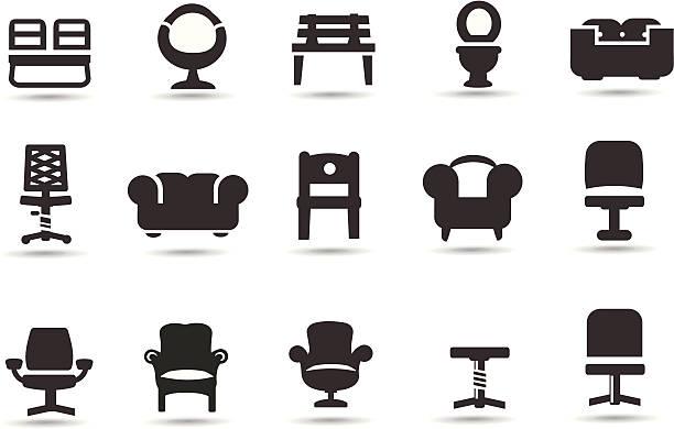 stühle - fahrzeugsitz stock-grafiken, -clipart, -cartoons und -symbole
