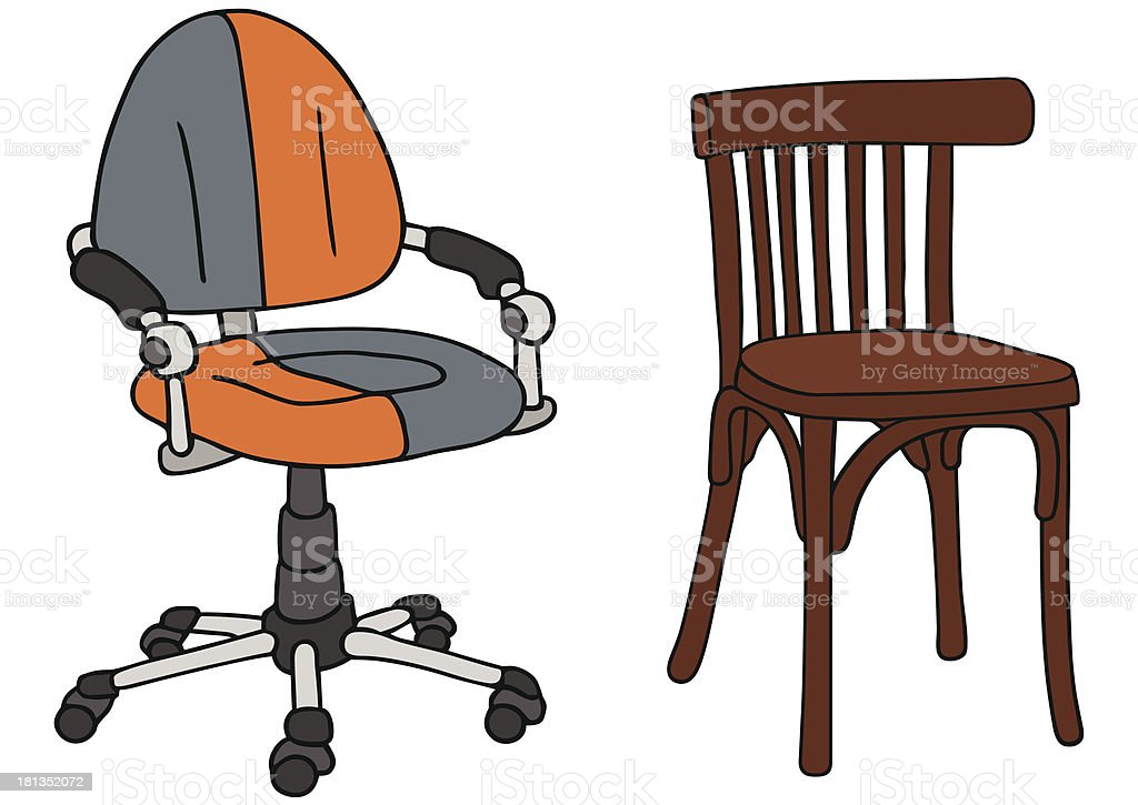 chairs royalty-free stock vector art