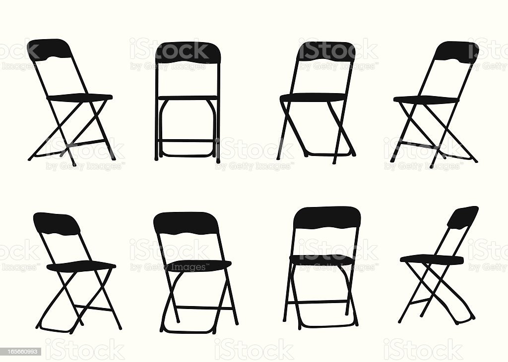 Chairs Vector Silhouette vector art illustration