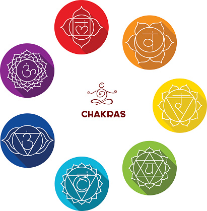 Chakra Color Flat Set Stock Illustration - Download Image