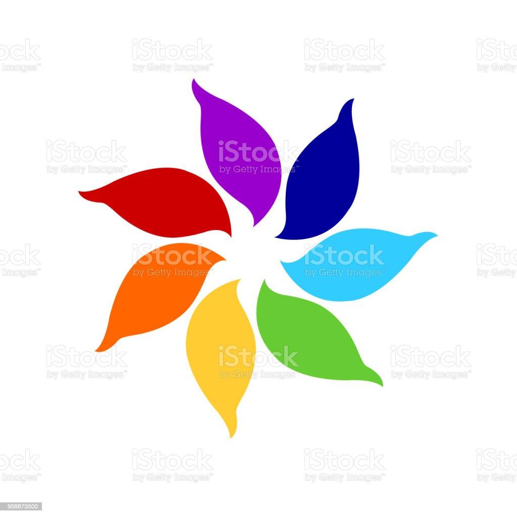 7 Chakra Couleur Icône Symbole Logo Signe Fleur Floral Dessin De Concept Design Illustration De Vecteur Vecteurs Libres De Droits Et Plus Dimages