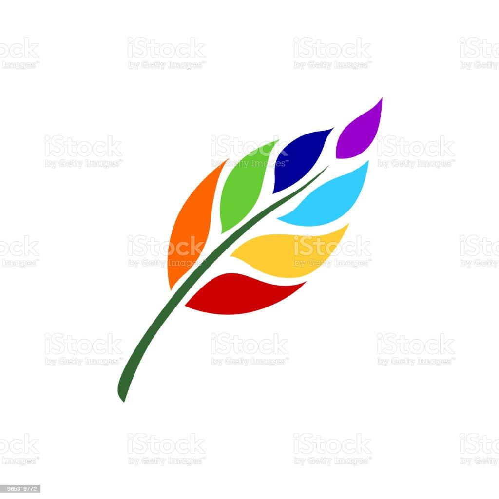 7 chakra couleur icône symbole logo signe, fleur floral, dessin de concept design illustration de vecteur - clipart vectoriel de Abstrait libre de droits