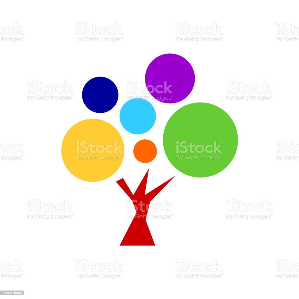 7 chakra cor ícone símbolo logo sinal, flor floral, desenho de conceito de ilustração de desenho de vetor - ilustração de arte em vetor