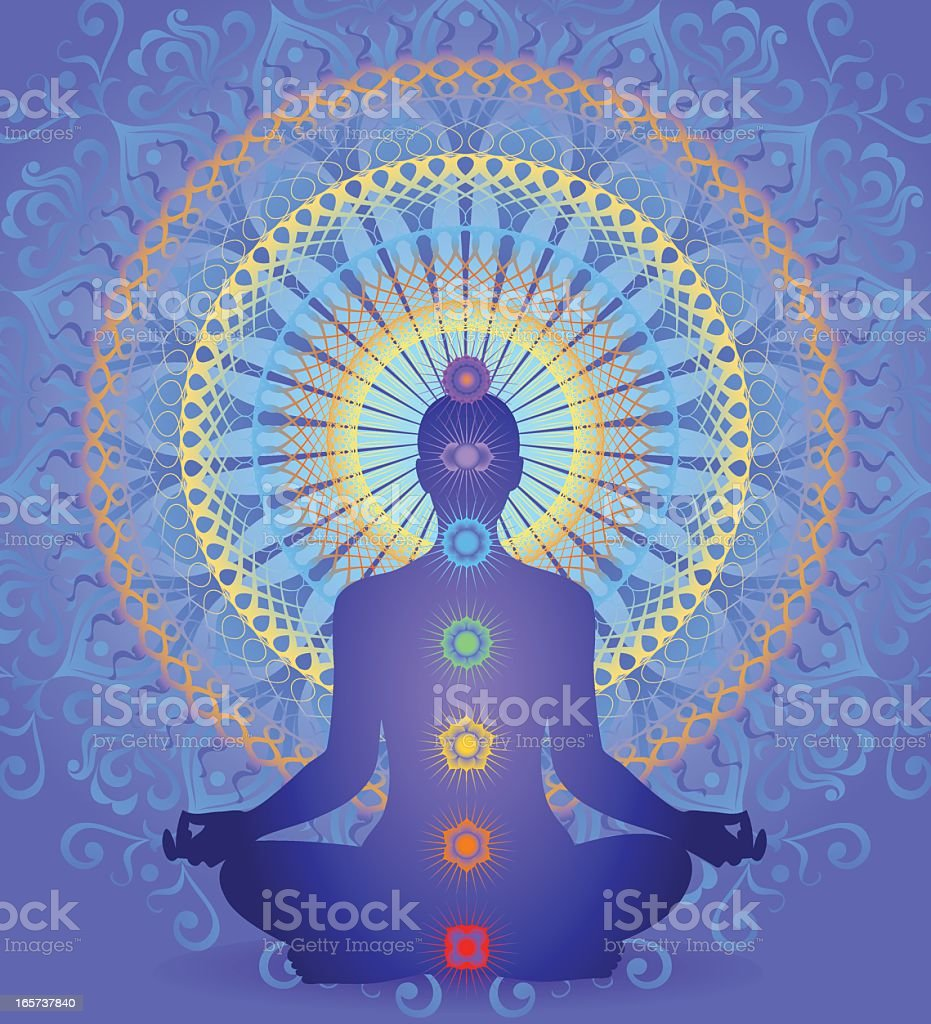 Chakra Mandala royalty-free chakra mandala stock vector art & more images of blue