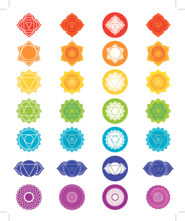 Chakra Symbols Icons Set
