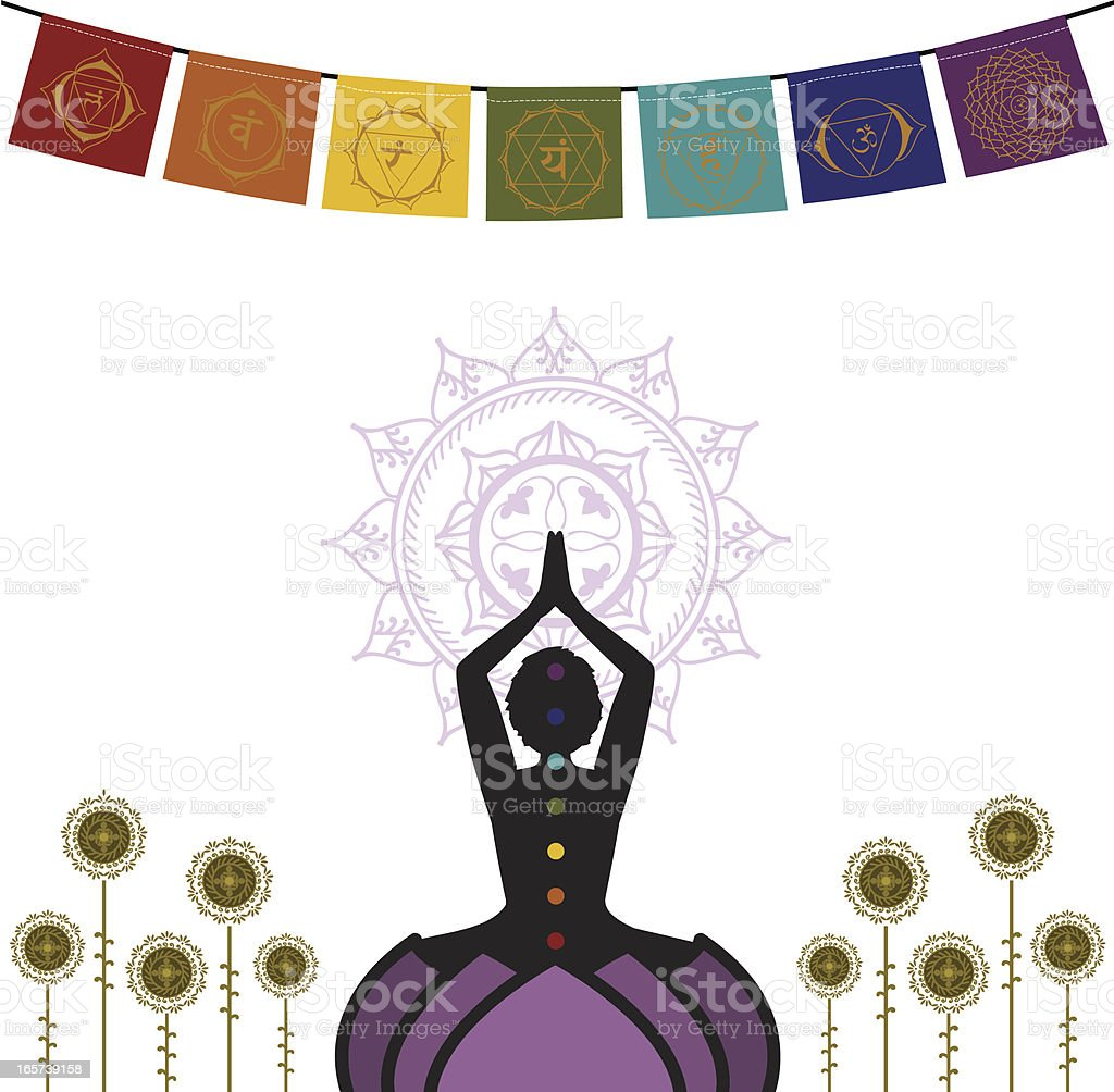 Chakras Flags royalty-free stock vector art