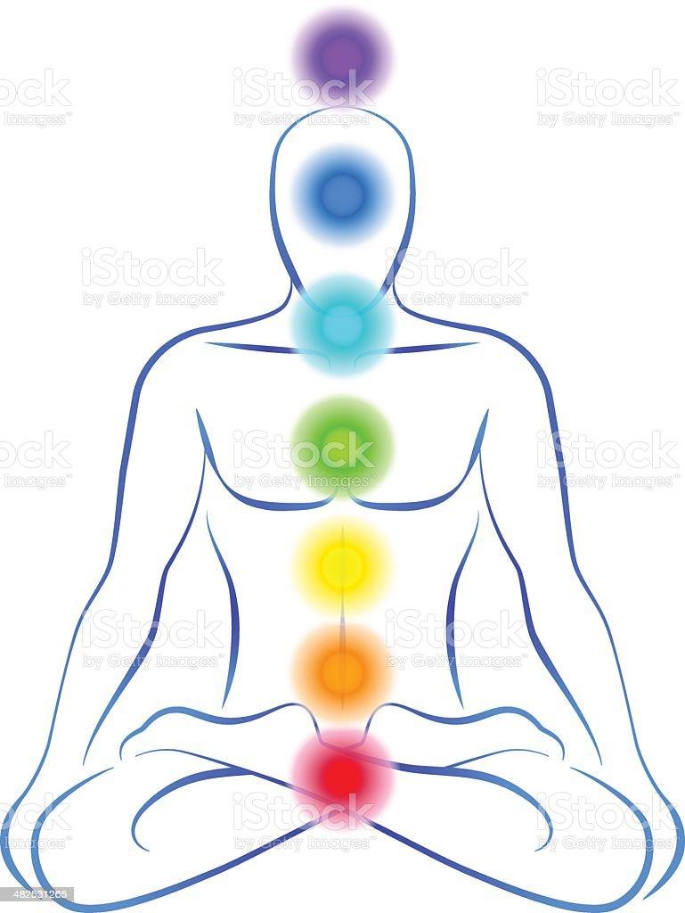 Chakras Man royalty-free chakras man stock vector art & more images of aura