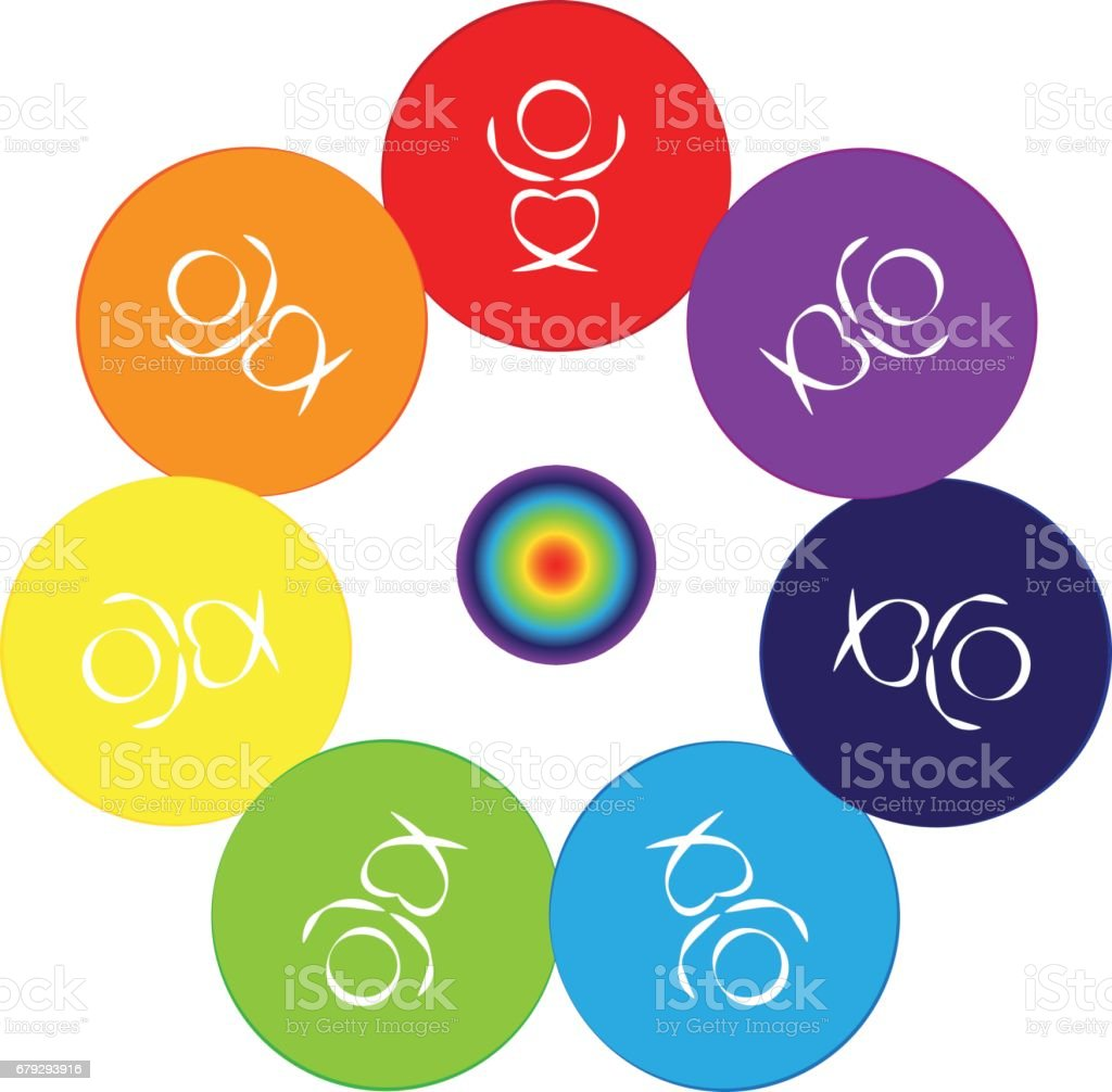 Chakras on white background. Vector illustration. royalty-free chakras on white background vector illustration stock vector art & more images of abstract