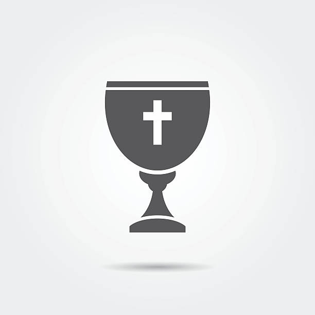 chalice icon - communion stock illustrations, clip art, cartoons, & icons
