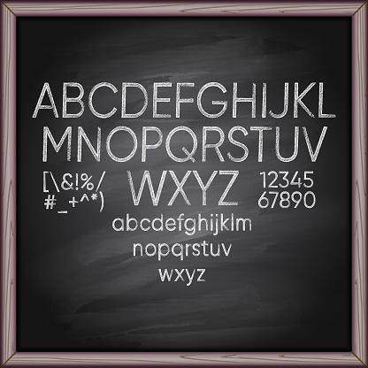 Chalk Alphabet on board