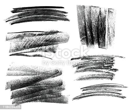 Chalk brush on white background isolated